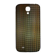 Background Colors Of Green And Gold In A Wave Form Samsung Galaxy S4 I9500/I9505  Hardshell Back Case