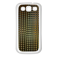 Background Colors Of Green And Gold In A Wave Form Samsung Galaxy S3 Back Case (white)