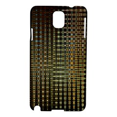 Background Colors Of Green And Gold In A Wave Form Samsung Galaxy Note 3 N9005 Hardshell Case