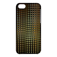 Background Colors Of Green And Gold In A Wave Form Apple iPhone 5C Hardshell Case