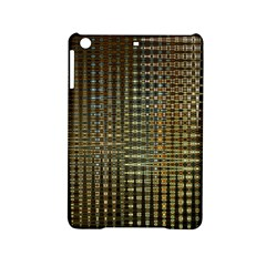 Background Colors Of Green And Gold In A Wave Form iPad Mini 2 Hardshell Cases