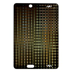 Background Colors Of Green And Gold In A Wave Form Amazon Kindle Fire Hd (2013) Hardshell Case