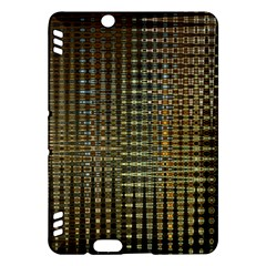 Background Colors Of Green And Gold In A Wave Form Kindle Fire Hdx Hardshell Case