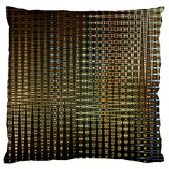 Background Colors Of Green And Gold In A Wave Form Large Flano Cushion Case (two Sides)