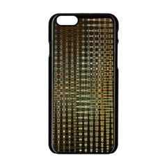 Background Colors Of Green And Gold In A Wave Form Apple Iphone 6/6s Black Enamel Case
