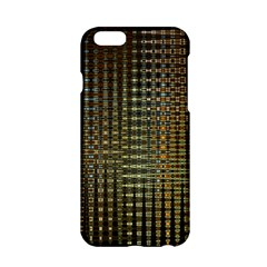 Background Colors Of Green And Gold In A Wave Form Apple iPhone 6/6S Hardshell Case