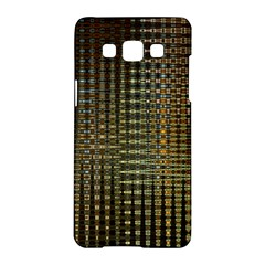 Background Colors Of Green And Gold In A Wave Form Samsung Galaxy A5 Hardshell Case