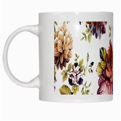 Texture Pattern Fabric Design White Mugs