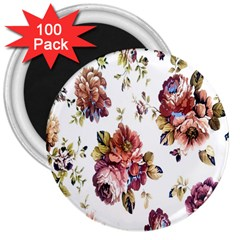 Texture Pattern Fabric Design 3  Magnets (100 Pack)