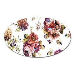 Texture Pattern Fabric Design Oval Magnet