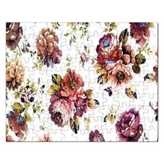 Texture Pattern Fabric Design Rectangular Jigsaw Puzzl