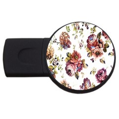Texture Pattern Fabric Design USB Flash Drive Round (4 GB)