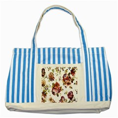 Texture Pattern Fabric Design Striped Blue Tote Bag