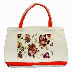 Texture Pattern Fabric Design Classic Tote Bag (Red)