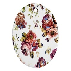 Texture Pattern Fabric Design Oval Ornament (Two Sides)