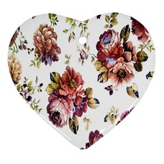 Texture Pattern Fabric Design Heart Ornament (two Sides)