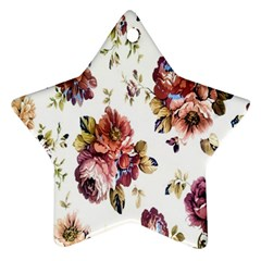 Texture Pattern Fabric Design Star Ornament (Two Sides)