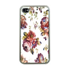 Texture Pattern Fabric Design Apple Iphone 4 Case (clear)