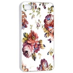 Texture Pattern Fabric Design Apple Iphone 4/4s Seamless Case (white)