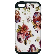 Texture Pattern Fabric Design Apple iPhone 5 Hardshell Case (PC+Silicone)