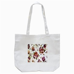 Texture Pattern Fabric Design Tote Bag (White)