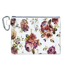 Texture Pattern Fabric Design Canvas Cosmetic Bag (l)