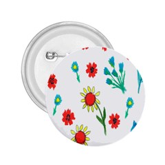 Flowers Fabric Design 2.25  Buttons