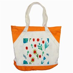 Flowers Fabric Design Accent Tote Bag