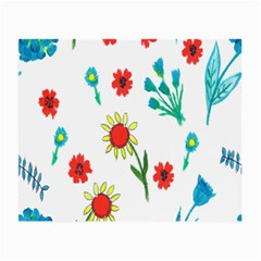 Flowers Fabric Design Small Glasses Cloth (2 Side)