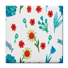 Flowers Fabric Design Face Towel