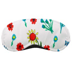 Flowers Fabric Design Sleeping Masks