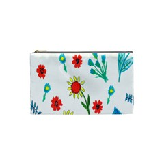 Flowers Fabric Design Cosmetic Bag (Small)
