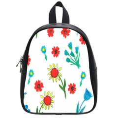 Flowers Fabric Design School Bags (small)