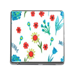 Flowers Fabric Design Memory Card Reader (Square)