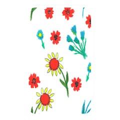 Flowers Fabric Design Memory Card Reader