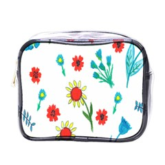 Flowers Fabric Design Mini Toiletries Bags