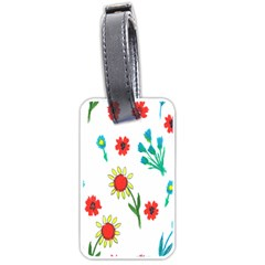 Flowers Fabric Design Luggage Tags (Two Sides)