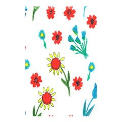 Flowers Fabric Design Shower Curtain 48  x 72  (Small)