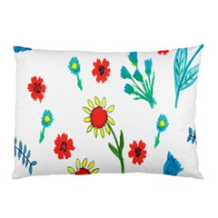 Flowers Fabric Design Pillow Case (two Sides)