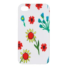 Flowers Fabric Design Apple Iphone 4/4s Hardshell Case