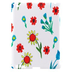 Flowers Fabric Design Apple Ipad 3/4 Hardshell Case (compatible With Smart Cover)