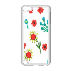 Flowers Fabric Design Apple Ipod Touch 5 Case (white)