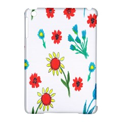Flowers Fabric Design Apple Ipad Mini Hardshell Case (compatible With Smart Cover)