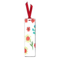 Flowers Fabric Design Small Book Marks