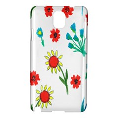 Flowers Fabric Design Samsung Galaxy Note 3 N9005 Hardshell Case