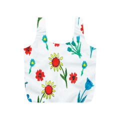 Flowers Fabric Design Full Print Recycle Bags (s)
