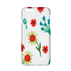 Flowers Fabric Design Apple Iphone 6/6s Hardshell Case