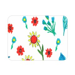 Flowers Fabric Design Double Sided Flano Blanket (Mini)