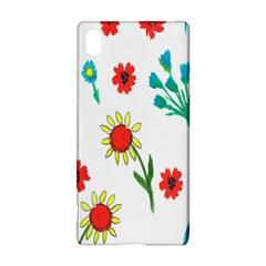 Flowers Fabric Design Sony Xperia Z3+