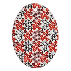 Simple Japanese Patterns Ornament (Oval)